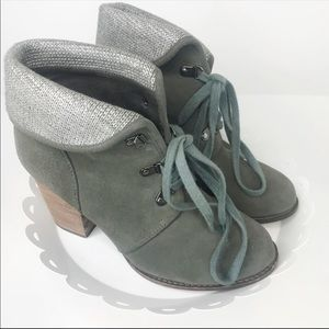 Ankle Boots Green Booties 8